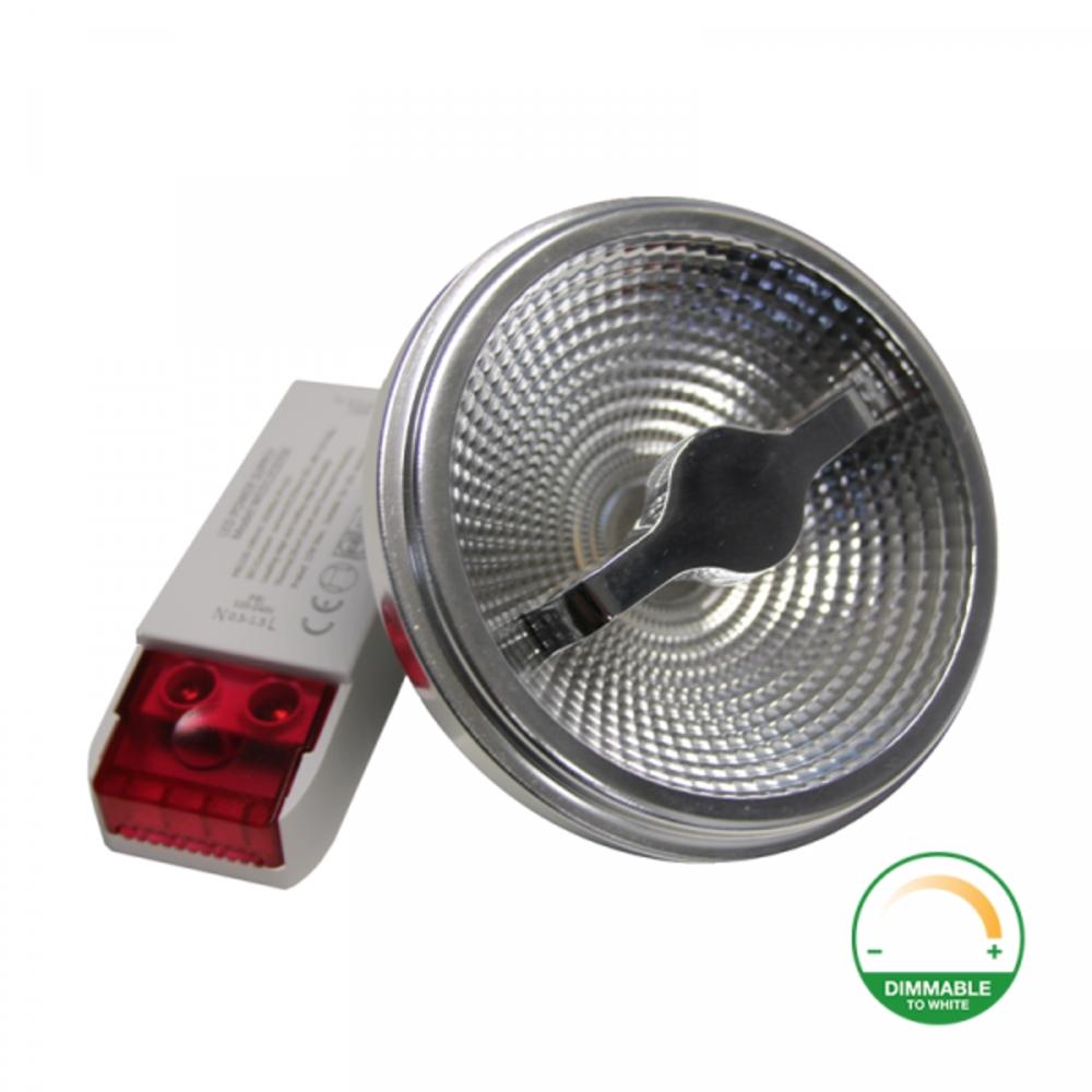 LED Spot AR111 - 12 watt - Dim to warm - 2200K - 3000K - G53 - 12 volt