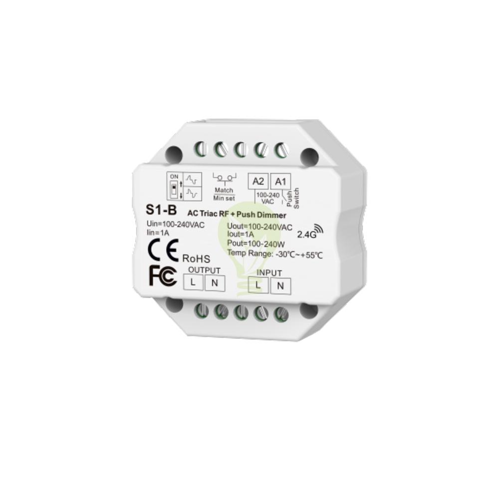 Draadloze LED dimmer 220-240 volt - inbouw - 244 Watt