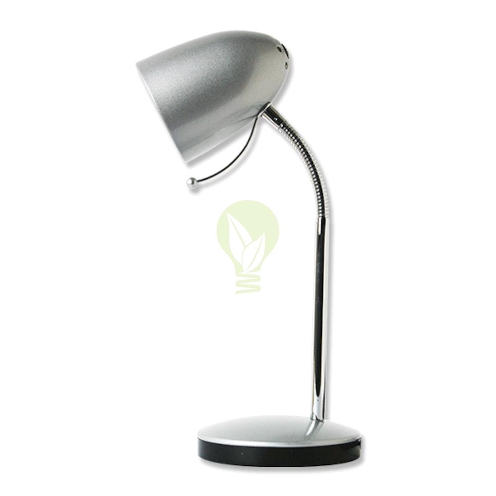 Bureau / tafellamp met E27 fitting en voet - Zilver