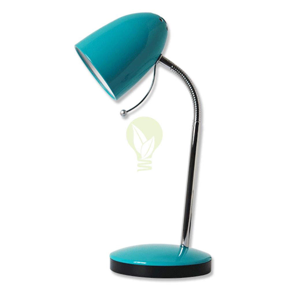 Bureau / tafellamp met E27 fitting en voet - Blauw
