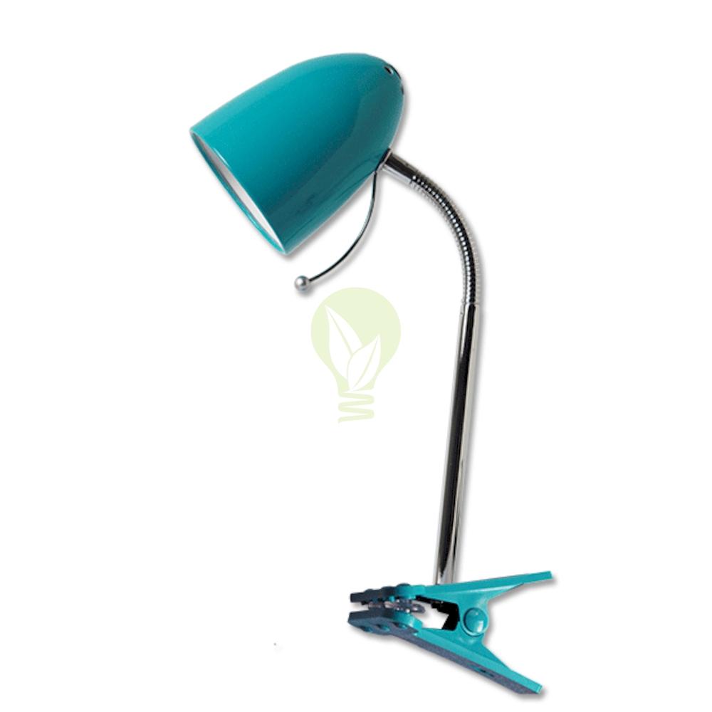 Bureaulamp met E27 fitting met klem - blauw