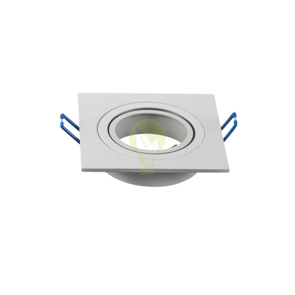 Witte spot armatuur vierkant - 75mm