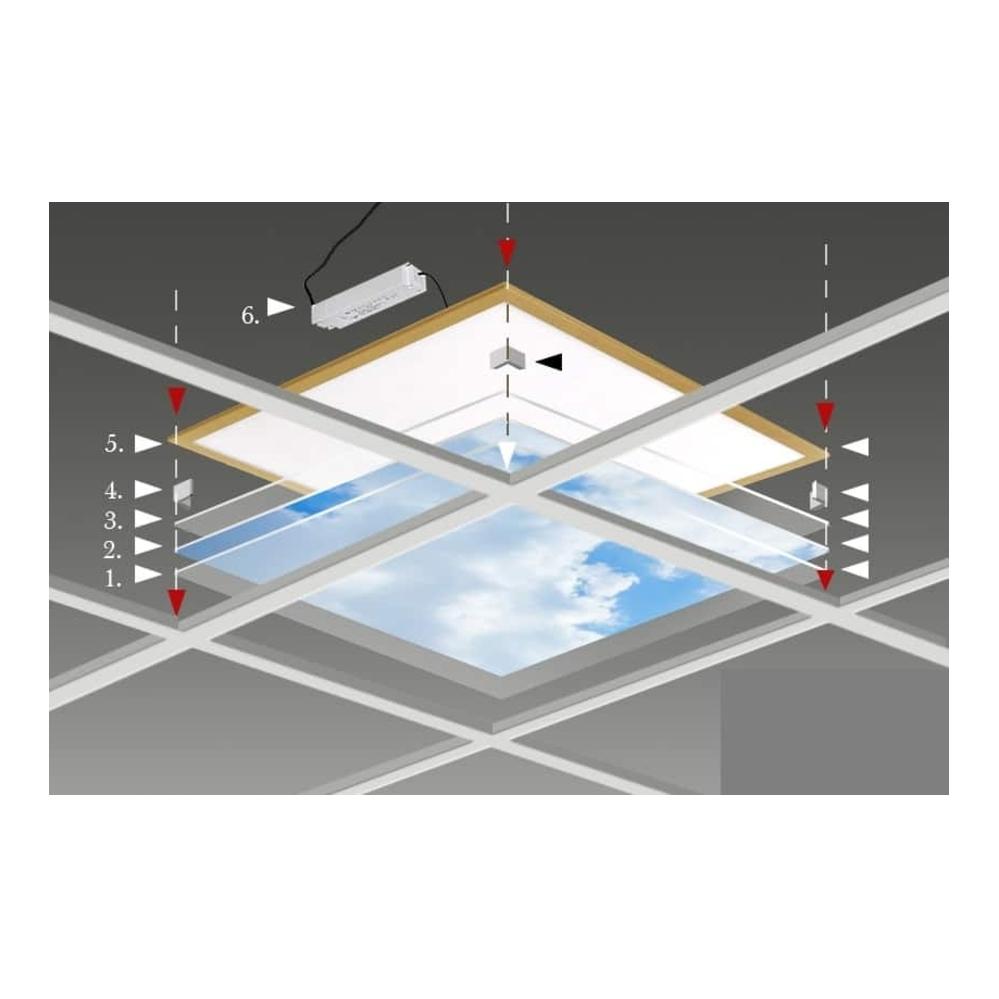 wolkenplafond- 595 x 595 mm- montage