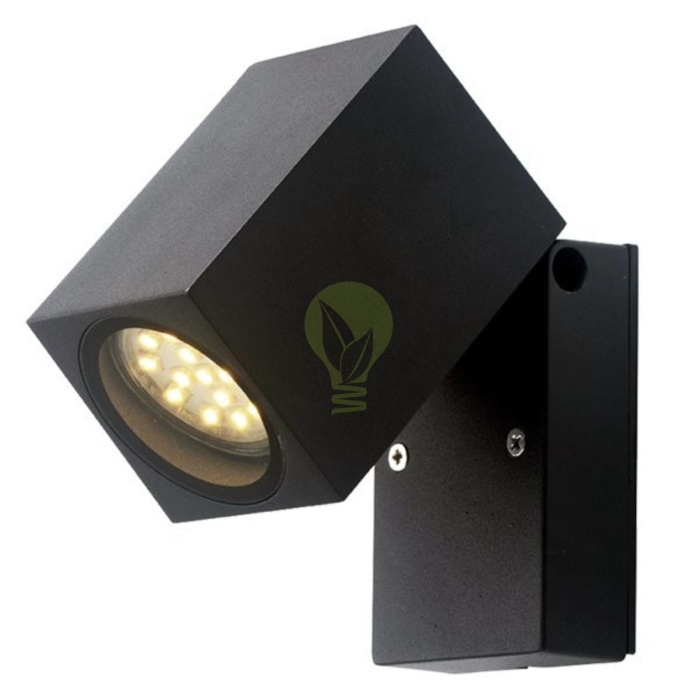 LED wandlamp met GU10 fitting zwart kantelbaar